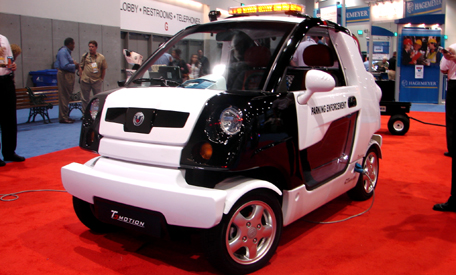 t-motion electric cop car